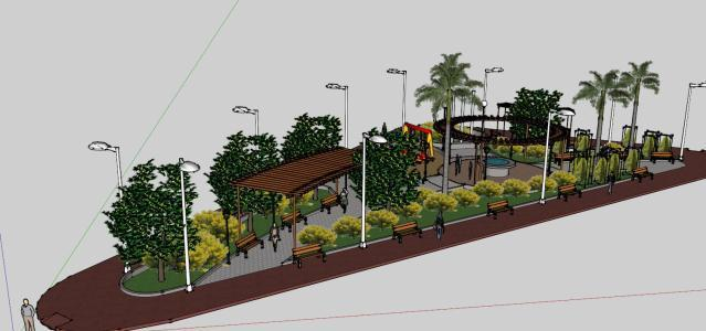 Park 3d Skp Model For Sketchup Designs Cad