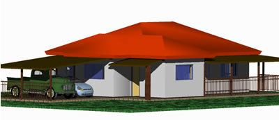 Rural Residence 3D DWG Model Full Project For AutoCAD