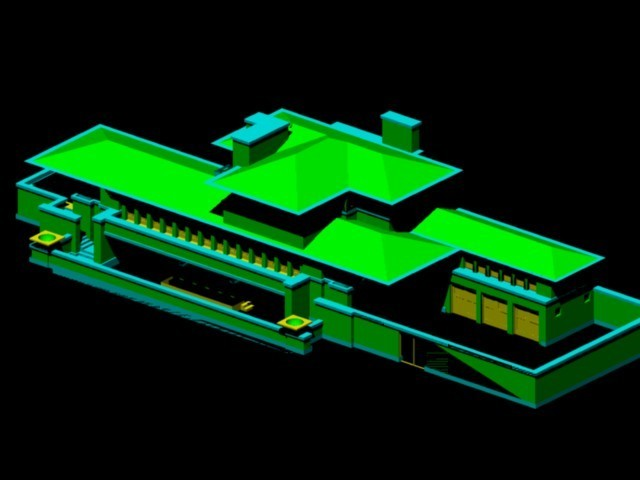 Robie House Frank Lloyd Wright Dwg Block For Autocad