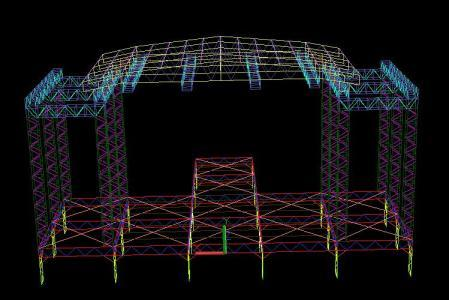 Scaffold Concert Stage Dwg Block For Autocad Designs Cad