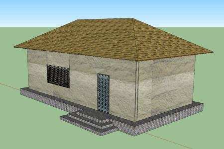 Simple House 3d Skp Model For Sketchup