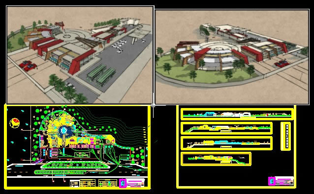 Tourist Resort 2d Dwg Design Elevation For Autocad