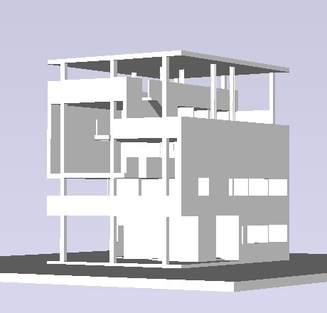 Villa Baizeau Carthage Tunisia By Le Corbusier 1919 3d