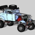 1932 Ford Highboy Off Road Extreme 3D 3DS Model for 3D Studio Max