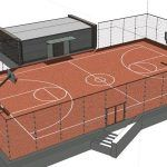 Basketball Court 3D SKP Model for SketchUp