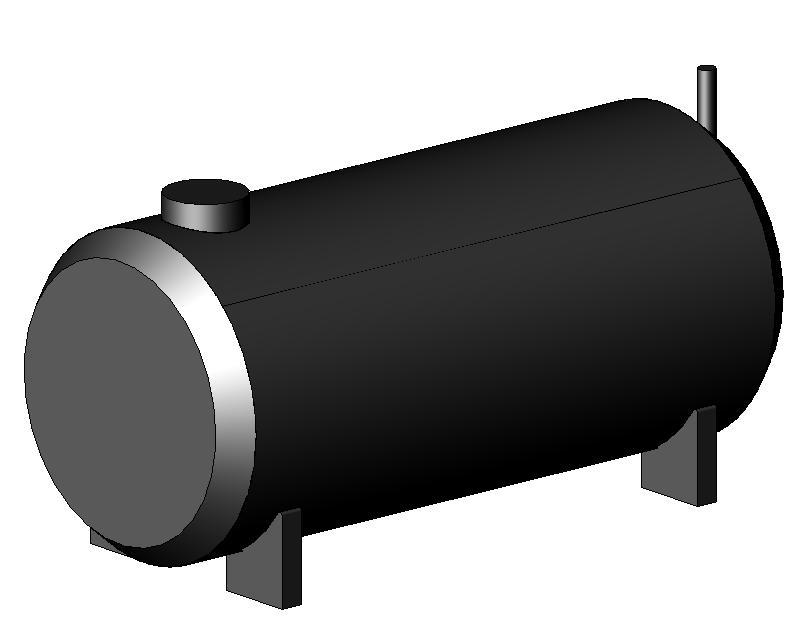 Football Gas Tank : Bulk fuel tank d dwg model for autocad designs cad