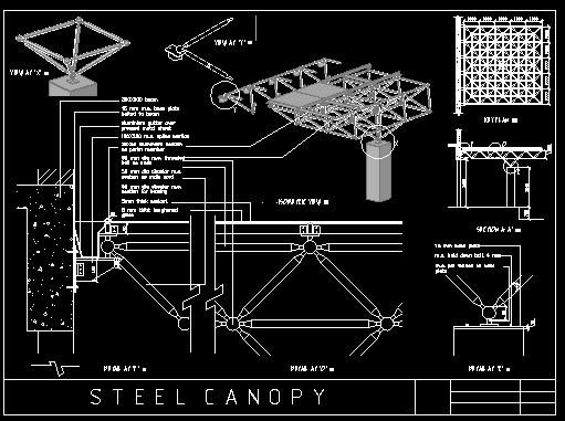 Canopy Detail Dwg Detail For Autocad Designs Cad