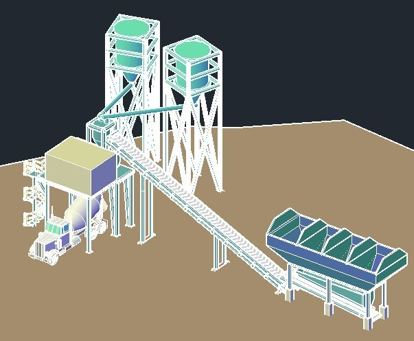 Concrete Batch Plant Dwg Block For Autocad Designs Cad