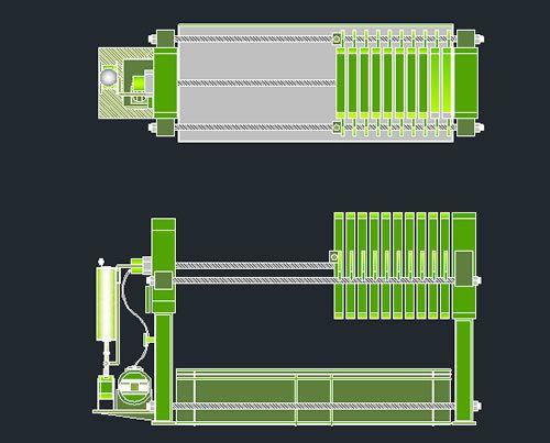 Filter Press 2d Dwg Block For Autocad Designs Cad