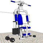 Gym Equipment 3D SKP Model for SketchUp