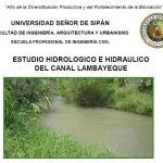 Hydrologic And Hydraulic Study Lambayeque Channel DOC Word Document