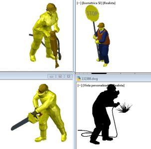People Workers 3d 3d Dwg Model For Autocad Designs Cad