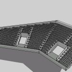 Section Bleachers 3D SKP Section for SketchUp