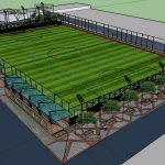 Sports Complex Antonia Santos 3D SKP Model for SketchUp