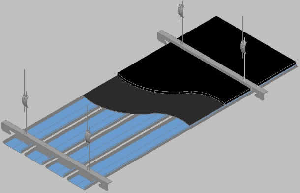 Suspended Ceiling 3d Dwg Detail For Autocad Designs Cad