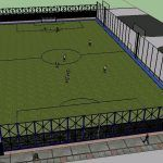 Synthetic Pitch 3D SKP Model for SketchUp
