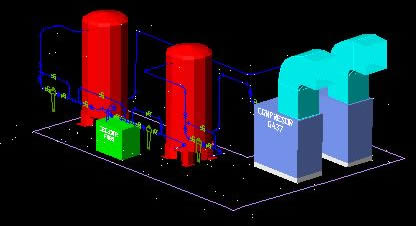 System Compressed Air 3d Dwg Model For Autocad Designs Cad
