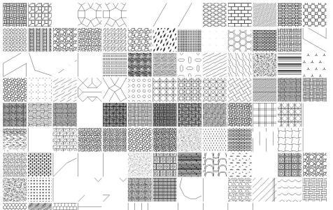 Textures For Autocad (Hatch) DWG Block for AutoCAD