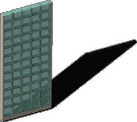 Wall With Glass Blocks ( Paves) DWG Block for AutoCAD