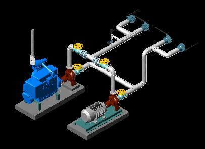 Water Pump 3d Dwg Model For Autocad Designs Cad