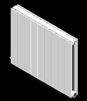 Aluminiun radiator 3d dwg model for autocad designscad for Radiador dwg