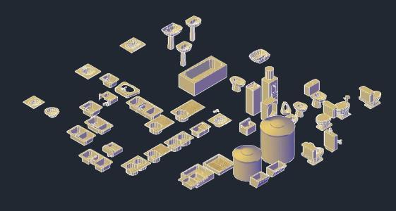 Bathroom Fixtures DWG Block for AutoCAD • Designs CAD