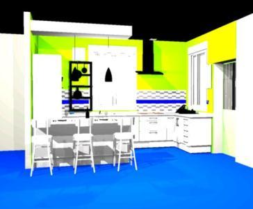Interior Kitchen 3D DWG Detail For AutoCAD