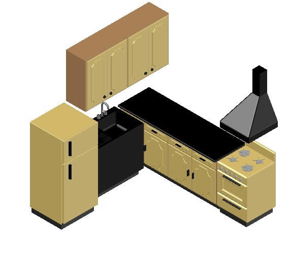 Kitchen Dwg File: Kitchen 3D DWG Model For AutoCAD • Designs CAD