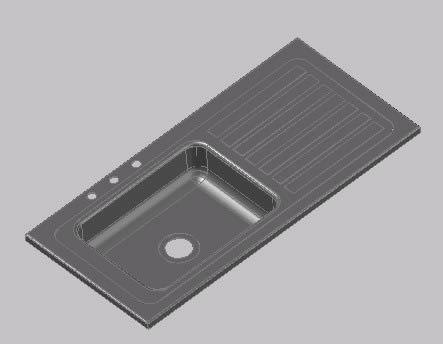 Kitchen Sink 3d Dwg Model For Autocad Designs Cad