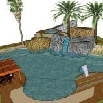 Pool Garden Party 3D SKP Full Project for SketchUp