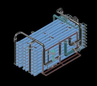 Skid Reverse Osmosis Water Treatment Sea 3d Dwg Model For