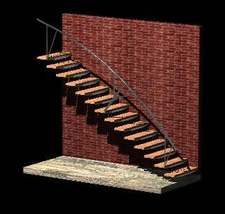 Stair Metallic Structure 3D DWG Model for AutoCAD