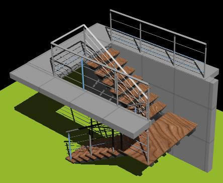 Stairs 3d dwg model for autocad designs cad for Garderobe 3d dwg