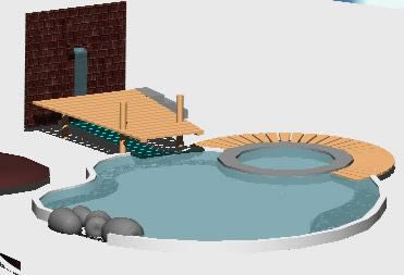 Swimming pool 3d dwg model for autocad designs cad for Swimming pool 3d model free download