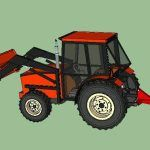 Tractor Scraper Blade 3D SKP Model for SketchUp