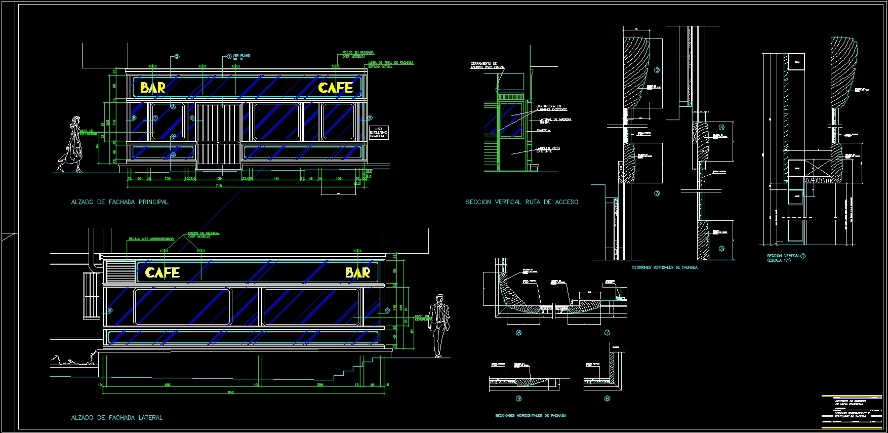 Detail Facade Coffee Bar Dwg Detail For Autocad Designs Cad