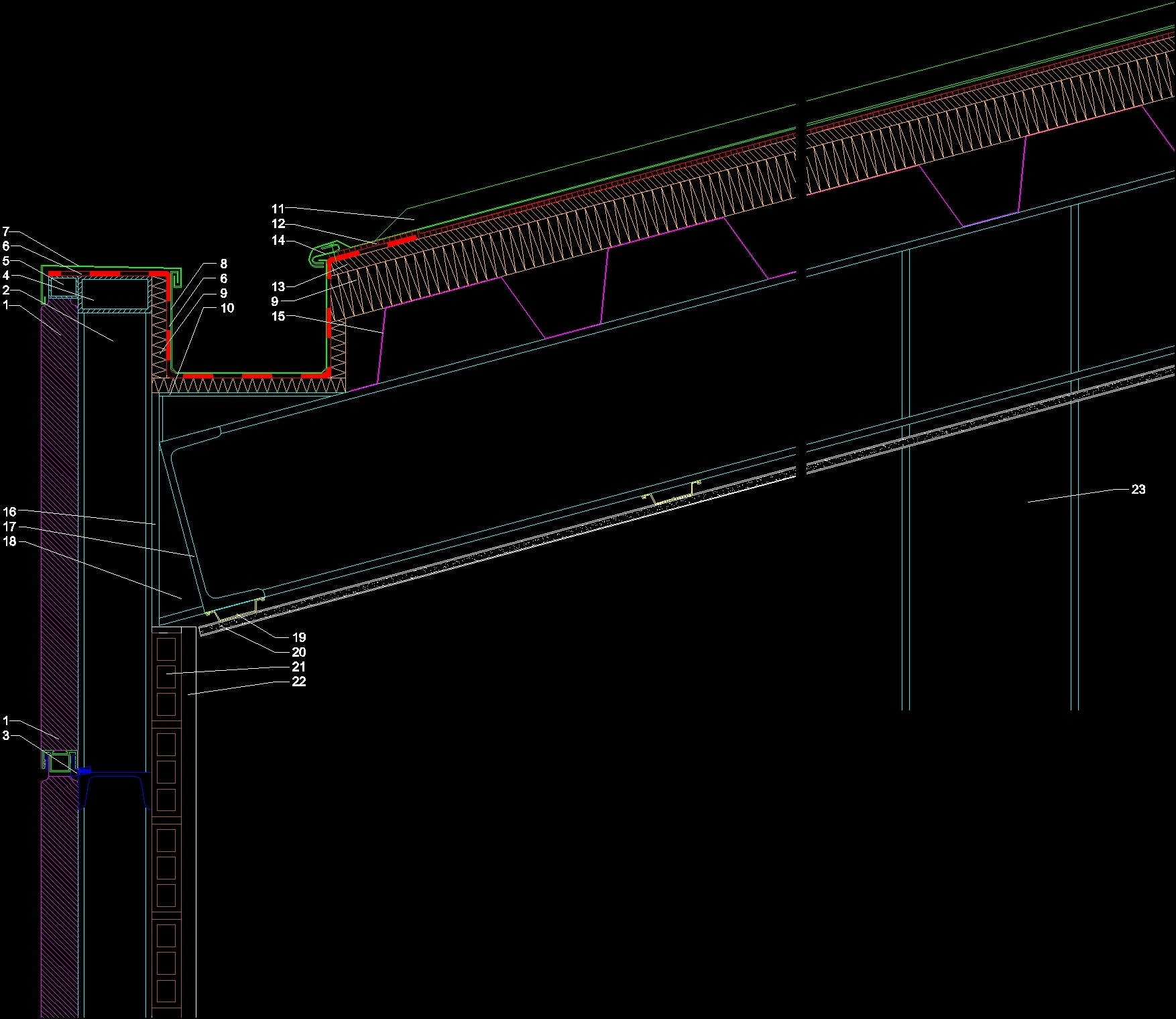 Facade Of Panel Sandwich Deck Roof Dwg Block For Autocad