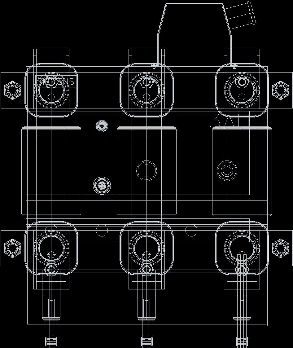 Siemens 3ah5 Circuit Breaker - 3D DWG Model for AutoCAD • Designs CAD