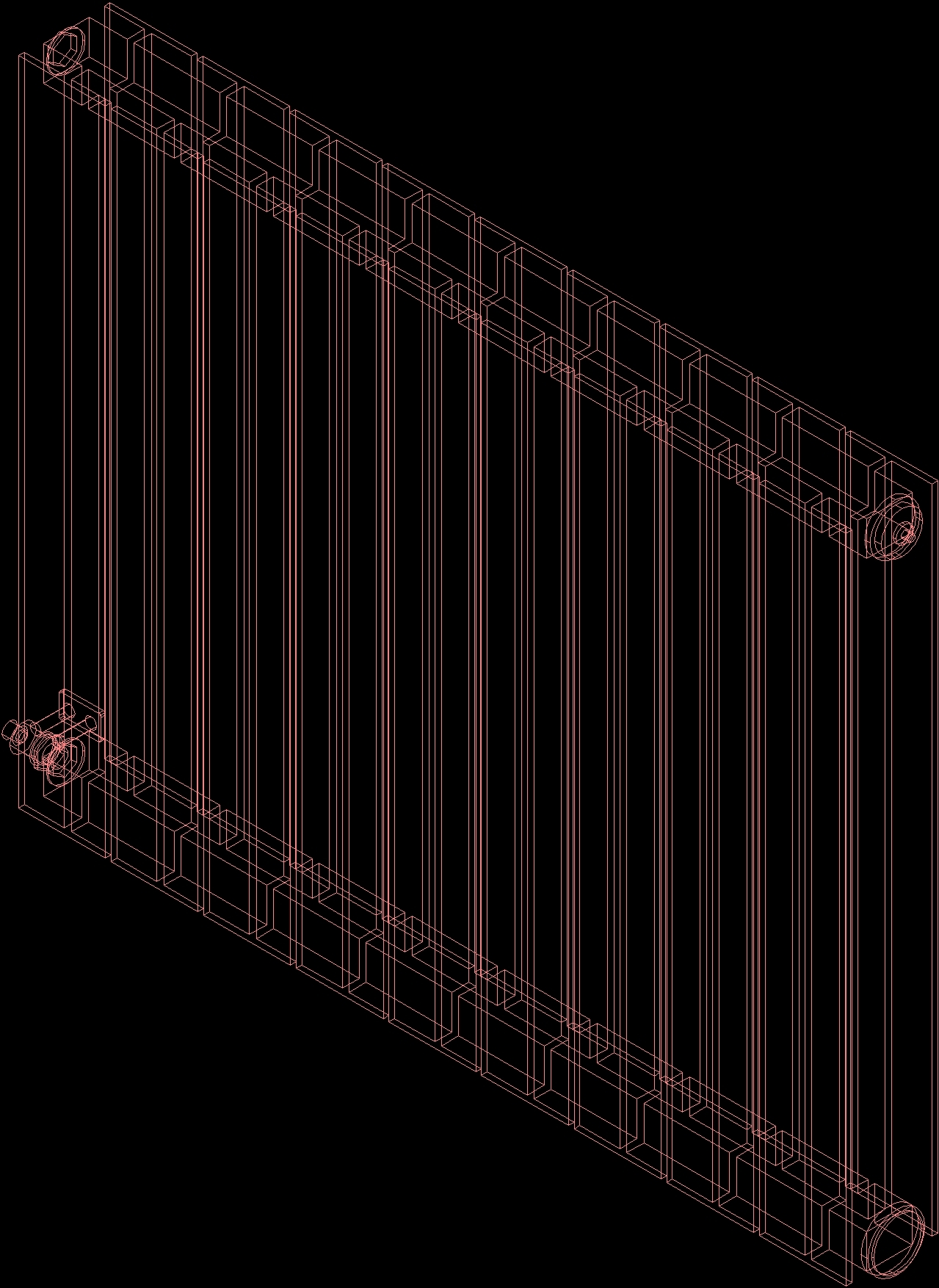 aluminiun radiator 3d dwg model for autocad  u2013 designs cad