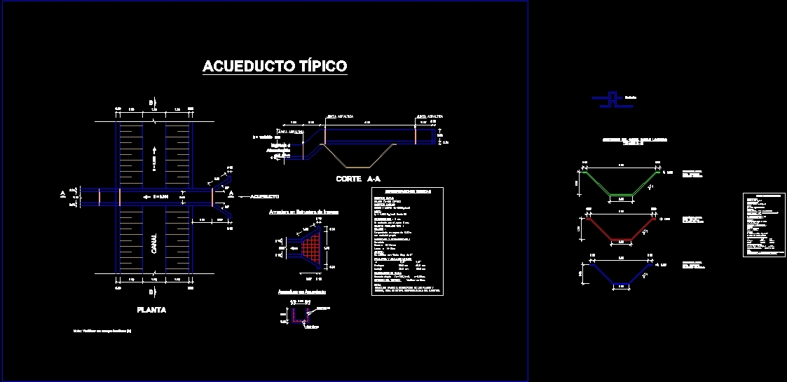 Aqueduct tipico dwg plan for autocad 770 designscad for 770 plan