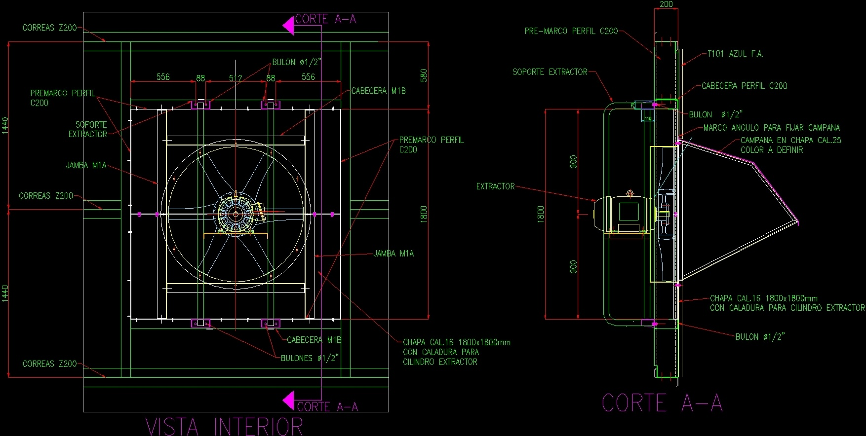 Axial Fans Support Dwg Block For Autocad Designs Cad