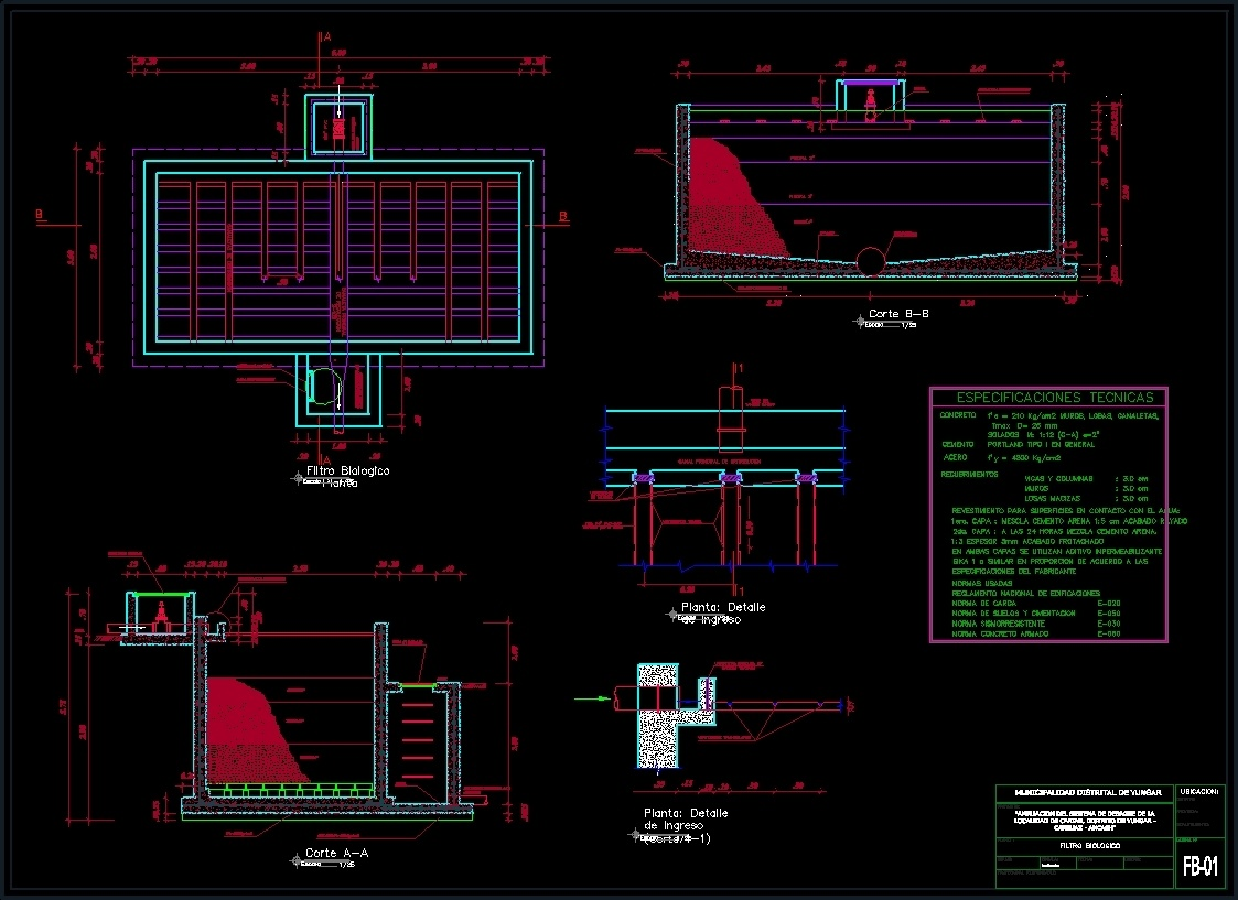 biofilter dwg detail for autocad designscad. Black Bedroom Furniture Sets. Home Design Ideas