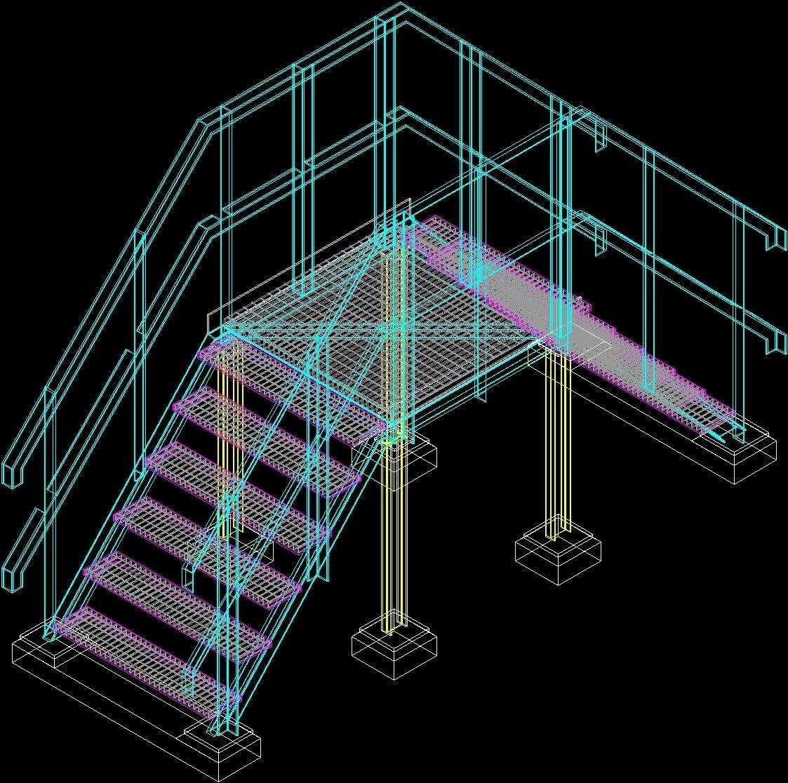 Catwalk Structure 3d Dwg Model For Autocad Designs Cad