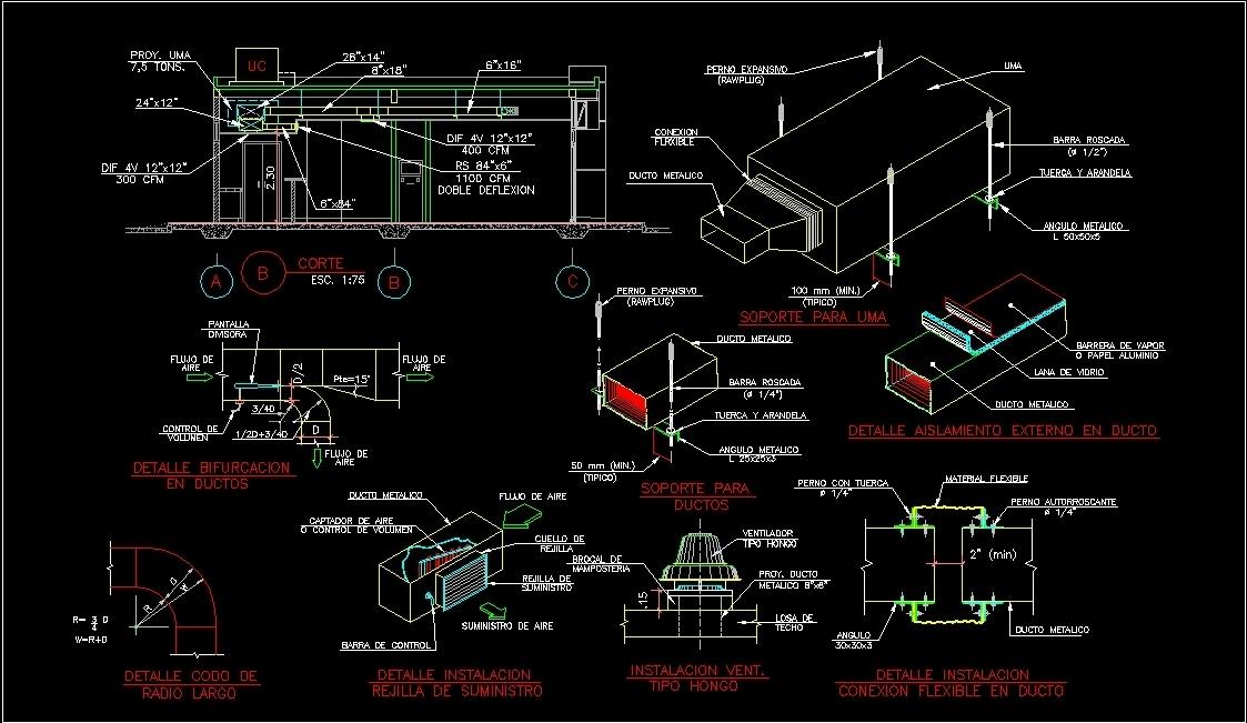 Conduit Details DWG Detail for AutoCAD • Designs CAD