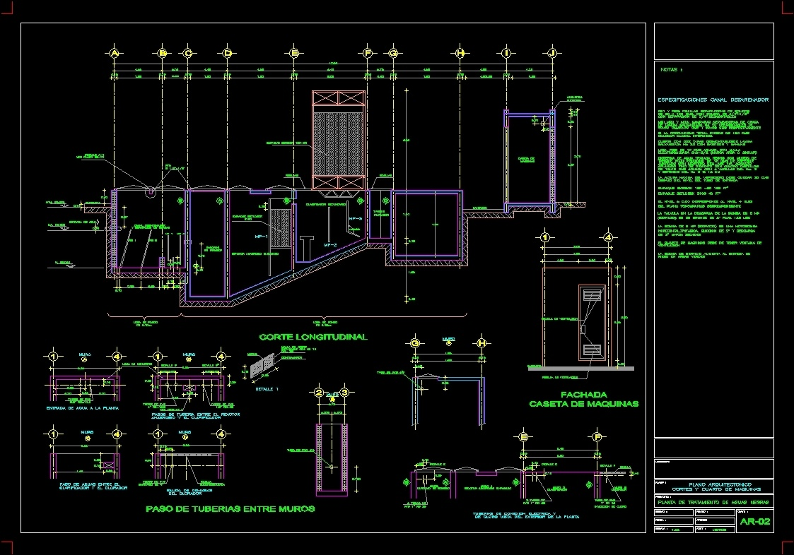 Court Wastewater Treatment Plant Wwtp Dwg Section For