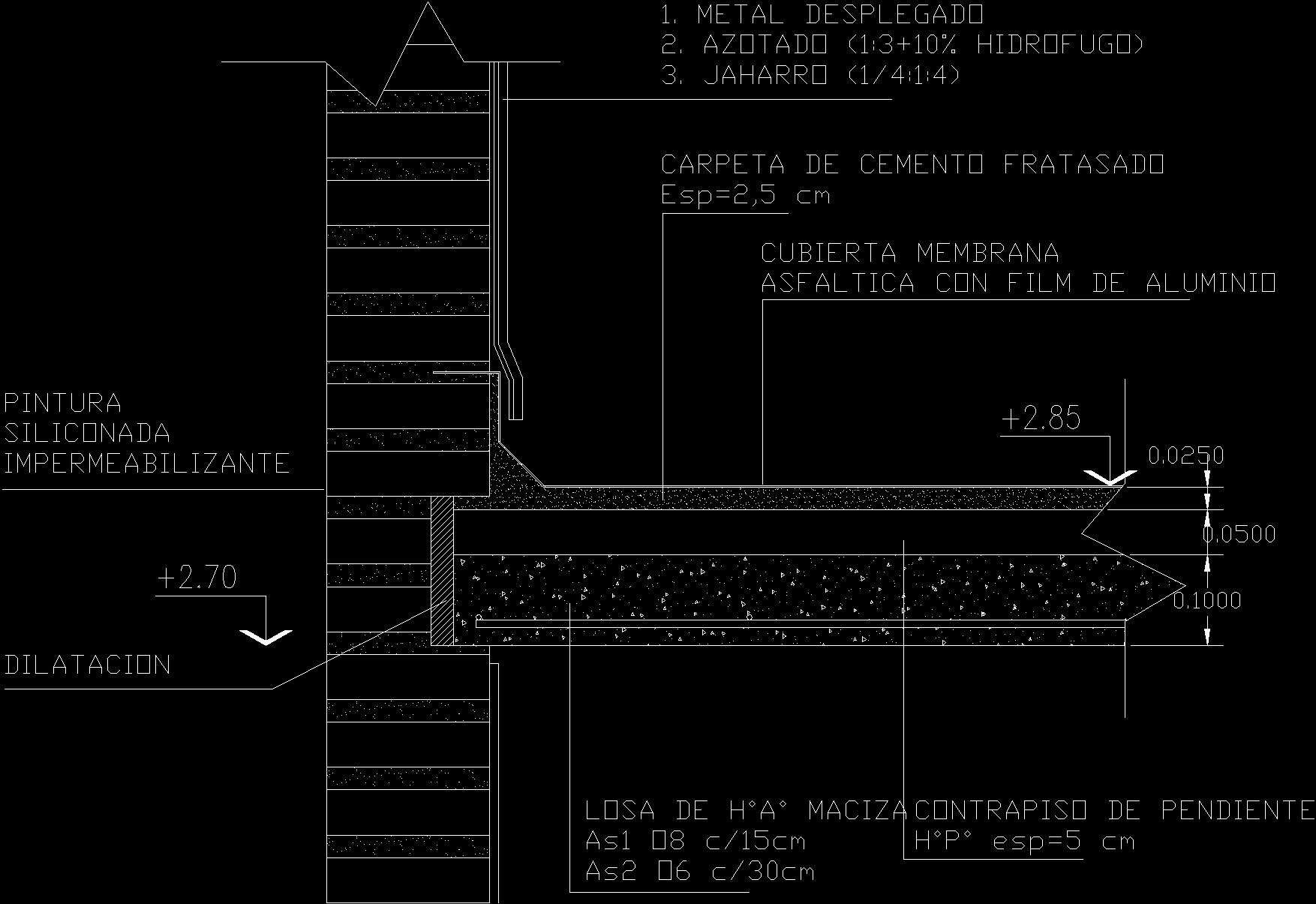 detail connection slab roof wall dwg detail  autocad designs cad