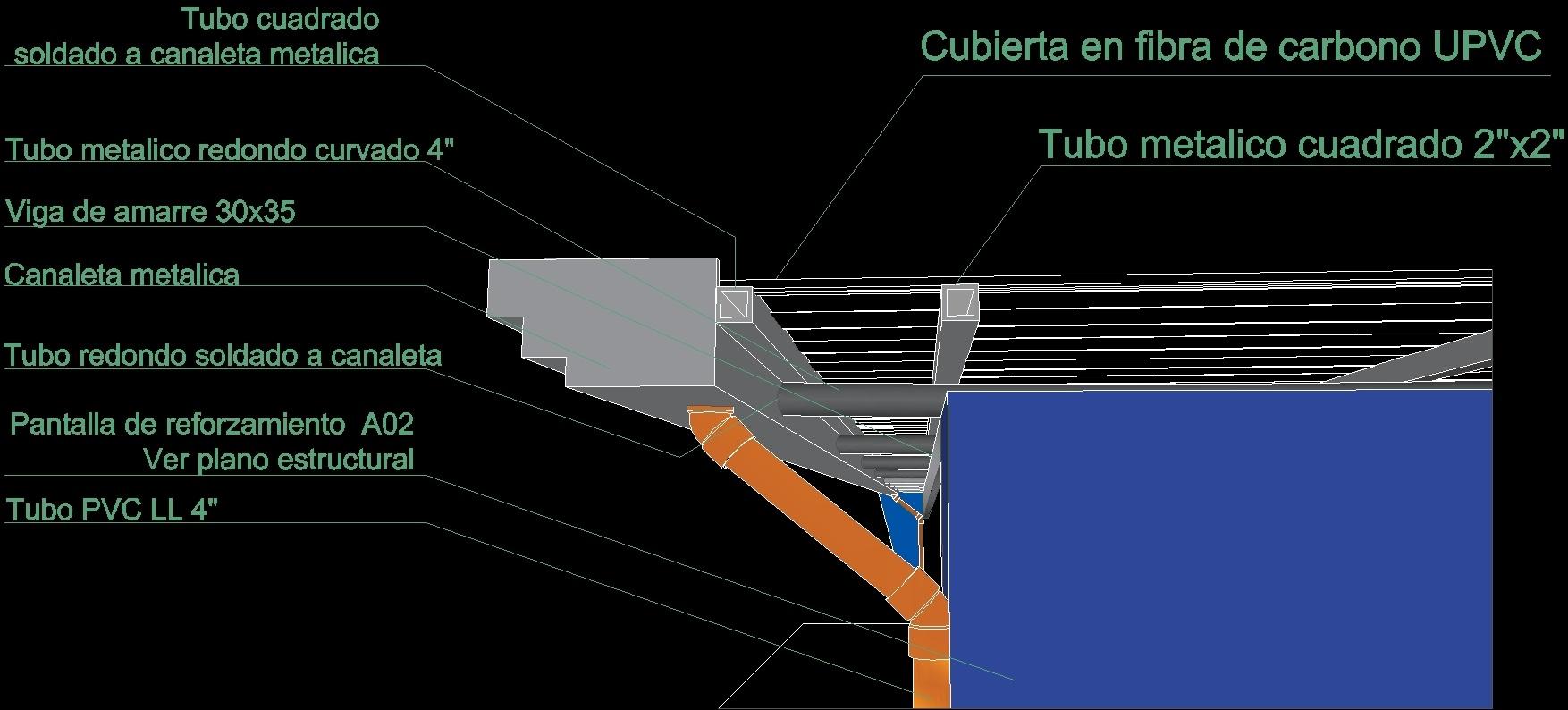 Detail Metal Gutter Downspout Dwg Detail For Autocad