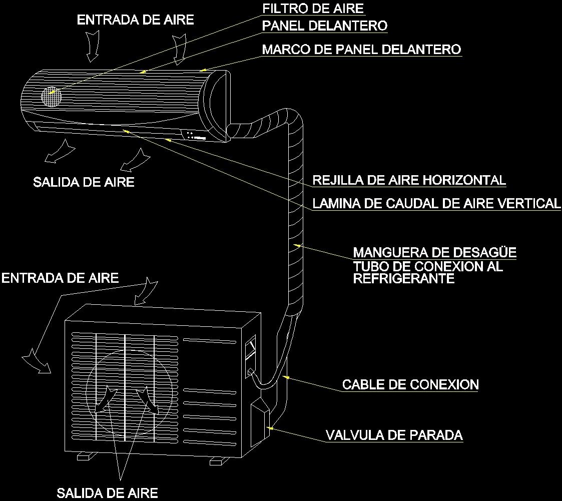 Detail Mini Split Dwg Detail For Autocad Designs Cad