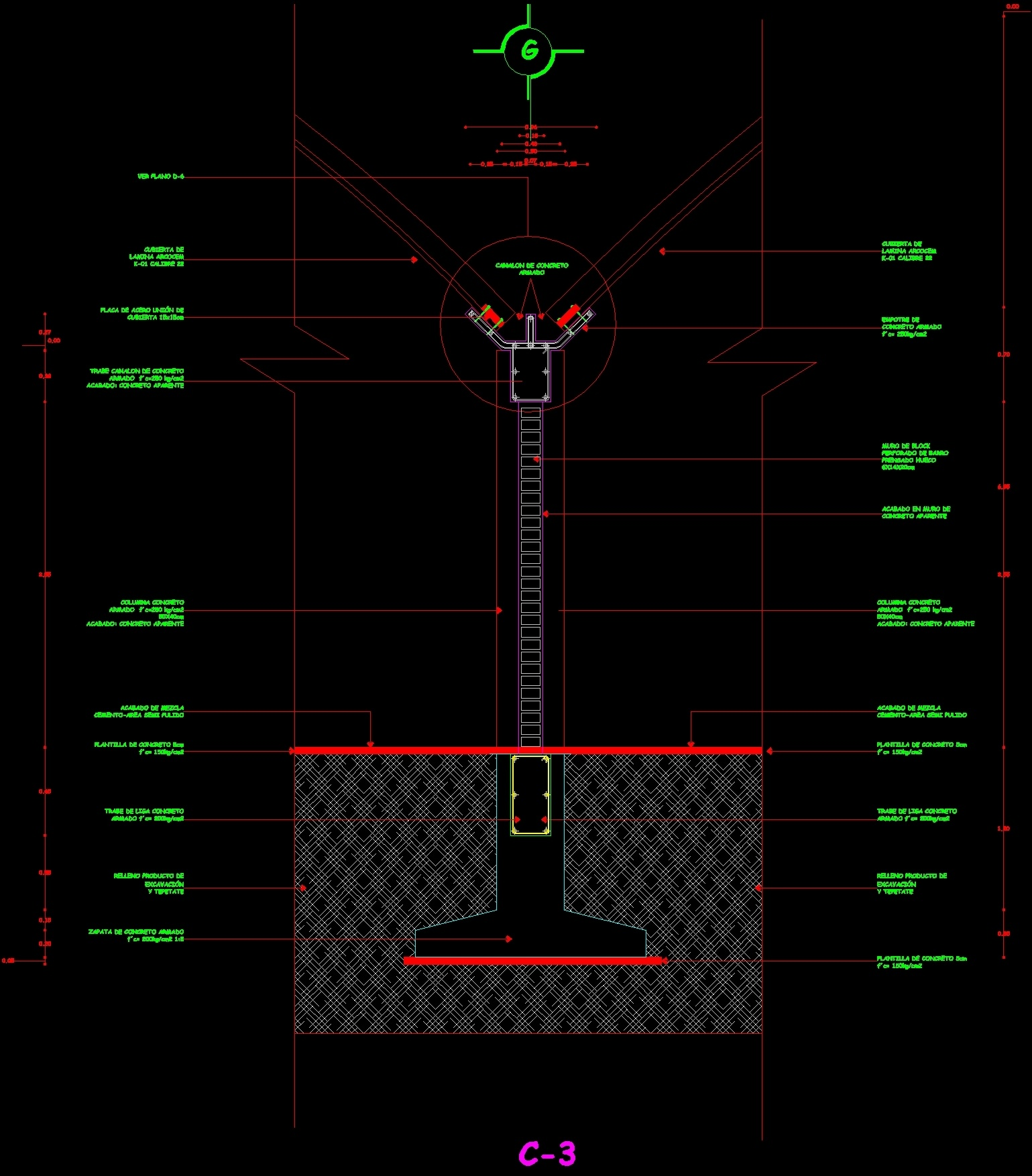 Detail Roof And Drain Gutter DWG Detail For AutoCAD