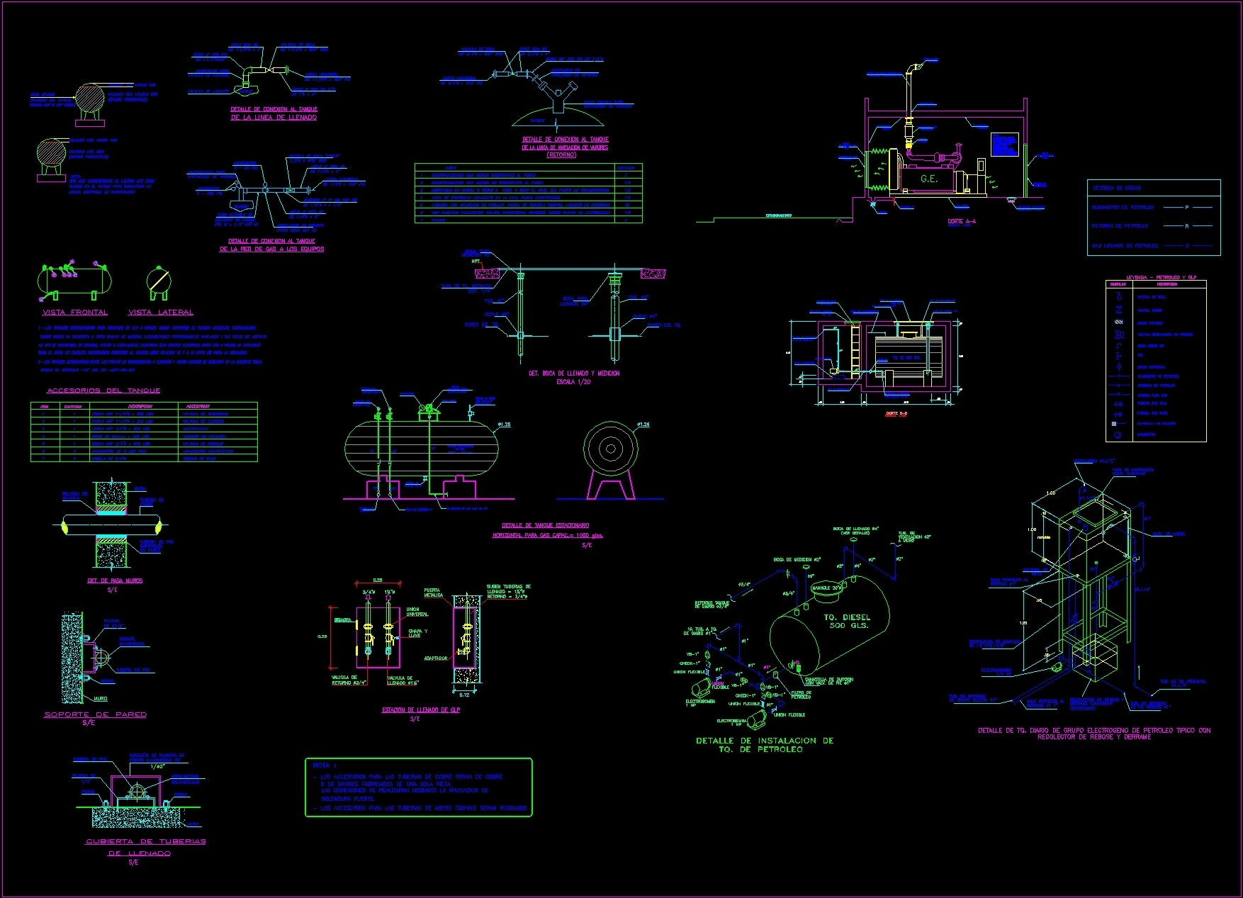 Details gas and oil tank dwg plan for autocad designs cad for Simboli gas dwg